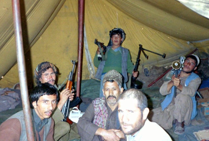 The guy on right is aiming a bazooka at my head -Jaji Paktia Afghanistan 1984