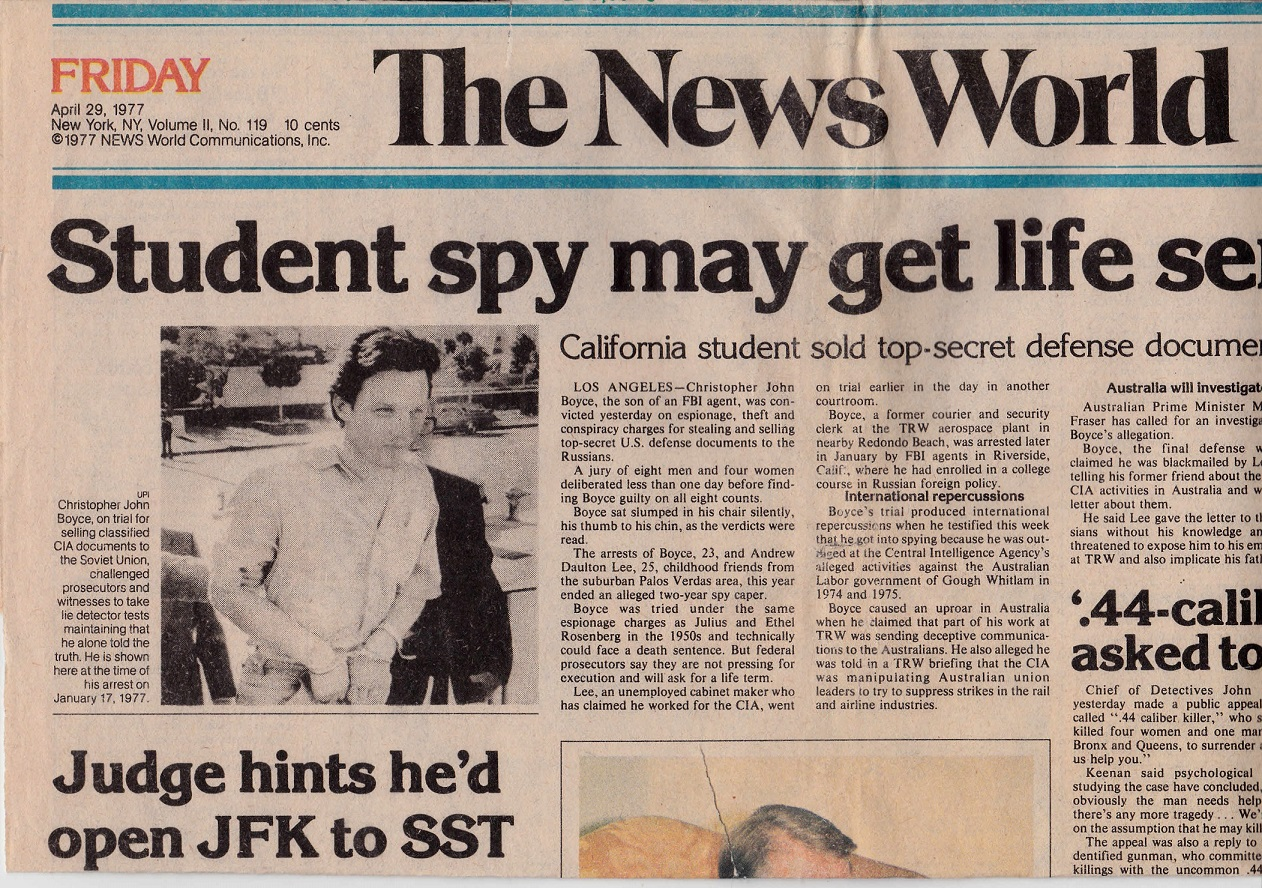 The News World New York City April 29, 1977 edition