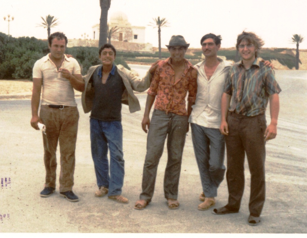 Erwin Franzen with fishing boat crew Tunis July 1973-Bild-15